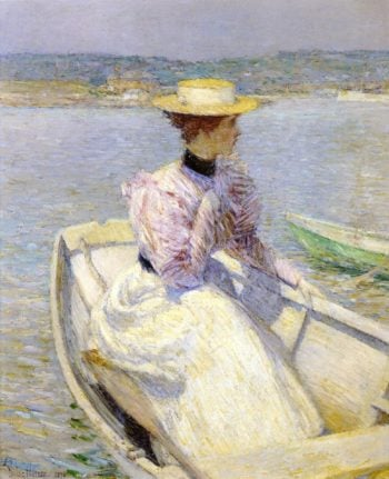 The White Dory | Frederick Childe Hassam | oil painting