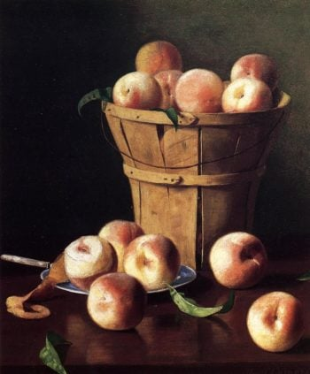 Still Life Peaches | Thomas Cromwel Corner | oil painting