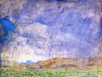 Thunderstorm on the Oregon Trail | Frederick Childe Hassam | oil painting