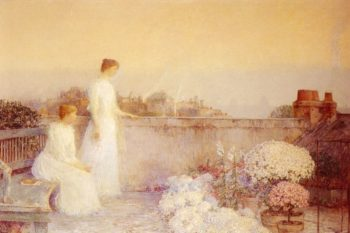 Twilight1 (also known as Le Crepuscule)   Frederick Childe Hassam   oil painting