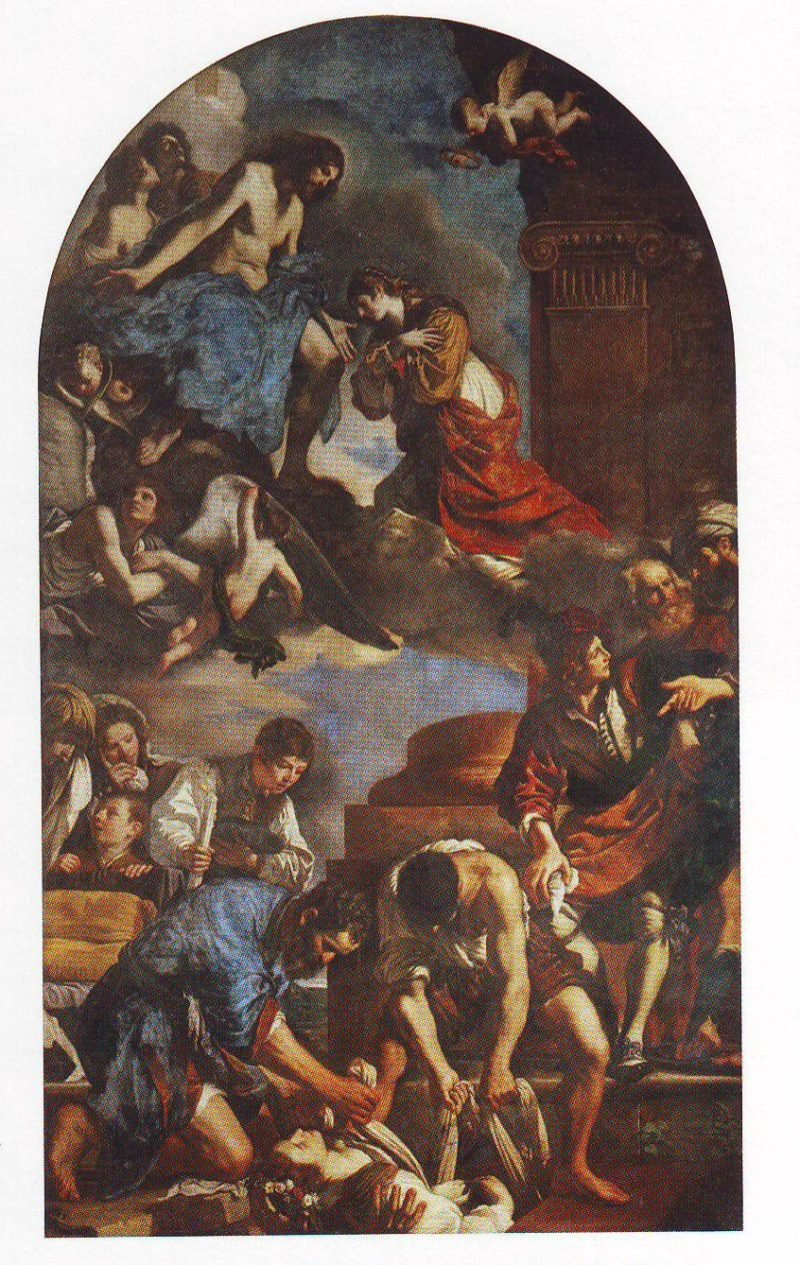The Burial And Reception Into Heaven Of St Petronilla   Guercino   oil painting