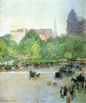 Union Square1 | Frederick Childe Hassam | oil painting