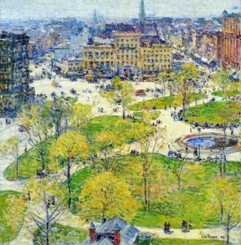 Union Square in Spring | Frederick Childe Hassam | oil painting