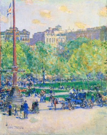 Union Square | Frederick Childe Hassam | oil painting