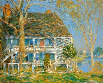 Unknown (also known as The Old Brush House) | Frederick Childe Hassam | oil painting