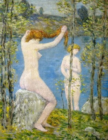 Untitled (Study for 'Bathers') | Frederick Childe Hassam | oil painting