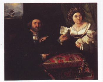 Portrait Of A Married Couple | Lorenzo Lotto | oil painting