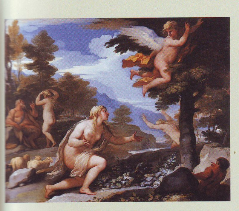Cupid Abandoning Psyche | Luca Giordano | oil painting