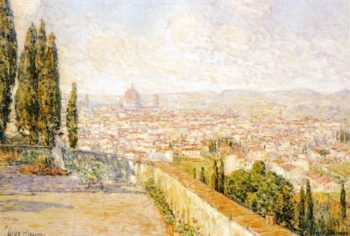 View of Florence from San Miniato | Frederick Childe Hassam | oil painting