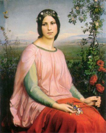 Flowers of the Field | Anne Francois Louis Janmot | oil painting