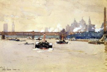 View of the Thames | Frederick Childe Hassam | oil painting
