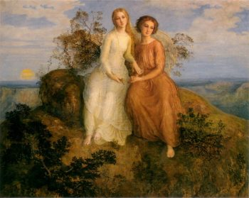 he Poem of the Soul One Evening | Anne Francois Louis Janmot | oil painting