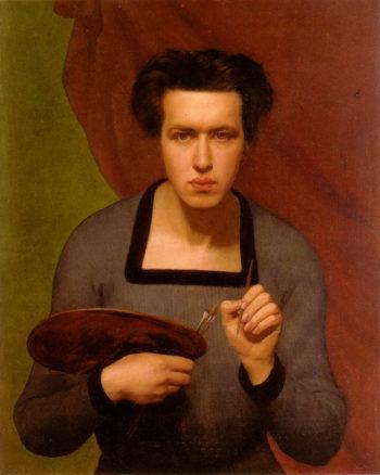 Portrait of the Artist | Anne Francois Louis Janmot | oil painting