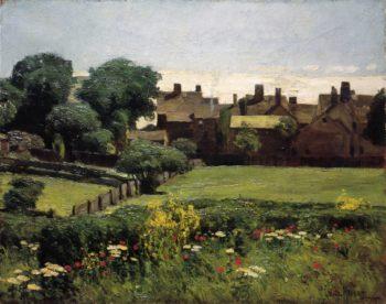 Village Scene | Frederick Childe Hassam | oil painting