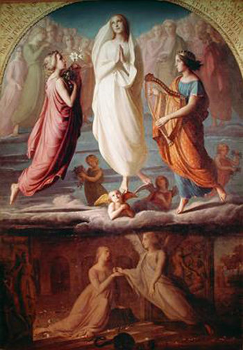 The Assumption of the Virgin | Anne Francois Louis Janmot | oil painting