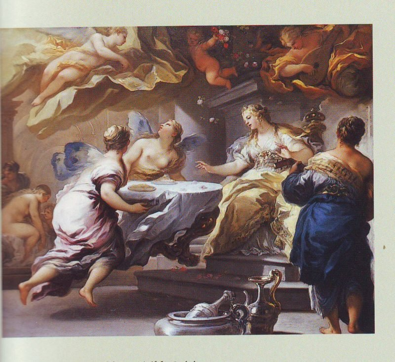 Psyche Served By Invisible Spirits | Luca Giordano | oil painting