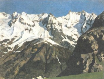 Range of mountains Mont Blanc 1897 | Isaac Ilich Levitan | oil painting