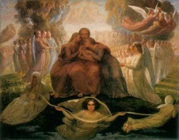 The Poem of the Soul Divine Genesis | Anne Francois Louis Janmot | oil painting