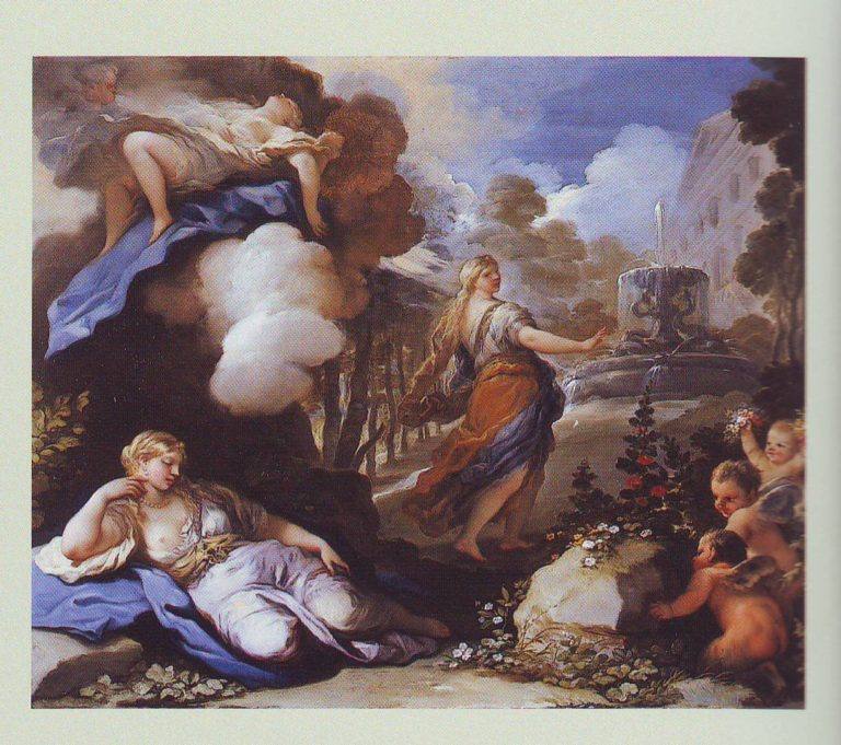 Psyche Transported And Discovering Cupid's Palace | Luca Giordano | oil painting