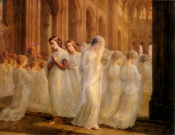 The Poem of the Soul First Communion | Anne Francois Louis Janmot | oil painting
