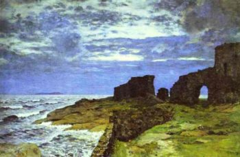 Remains of the Past Twilight Finland 1897 | Isaac Ilich Levitan | oil painting