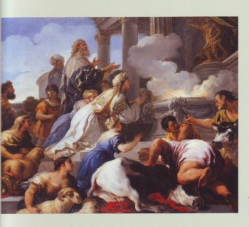 Psyche's Parents Offering Sacrifice To Apollo | Luca Giordano | oil painting