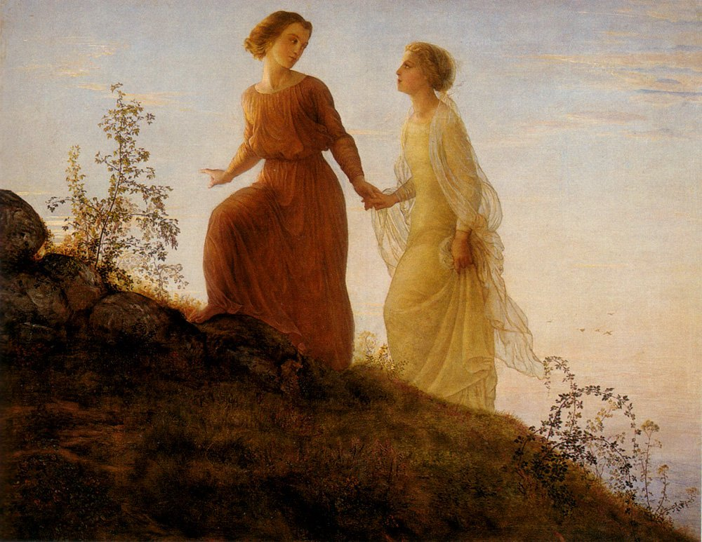The Poem of the Soul On the Mountain Painting | Anne Francois Louis Janmot  Oil Paintings
