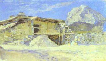 Saklia in Alupka Study 1886 | Isaac Ilich Levitan | oil painting