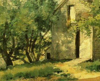 White Barn | Frederick Childe Hassam | oil painting