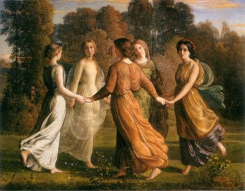 The Poem of the Soul Rays of the Sun | Anne Francois Louis Janmot | oil painting