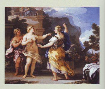 Venus Punishing Psyche | Luca Giordano | oil painting