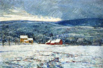 Winter in the Connecticut Hills | Frederick Childe Hassam | oil painting