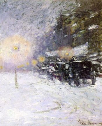 Winter Midnight | Frederick Childe Hassam | oil painting