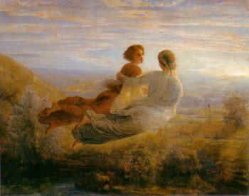 The Poem of the Soul The Souls Flight | Anne Francois Louis Janmot | oil painting
