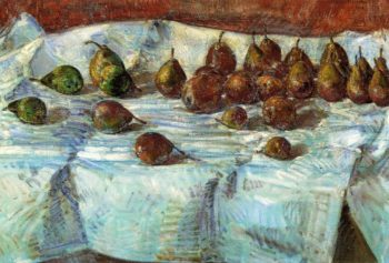 Winter Sickle Pears | Frederick Childe Hassam | oil painting