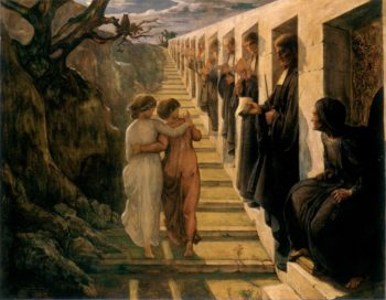 The Poem of the Soul The Wrong Path | Anne Francois Louis Janmot | oil painting