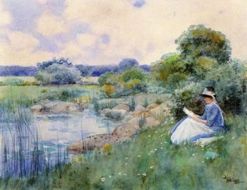 Woman Reading | Frederick Childe Hassam | oil painting