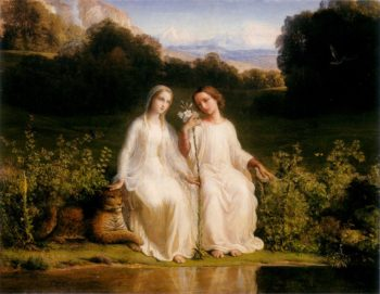 The Poem of the Soul Virginitas | Anne Francois Louis Janmot | oil painting