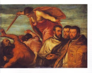 The Expulsion Of The Vices Of The Church | Palma Giovane | oil painting