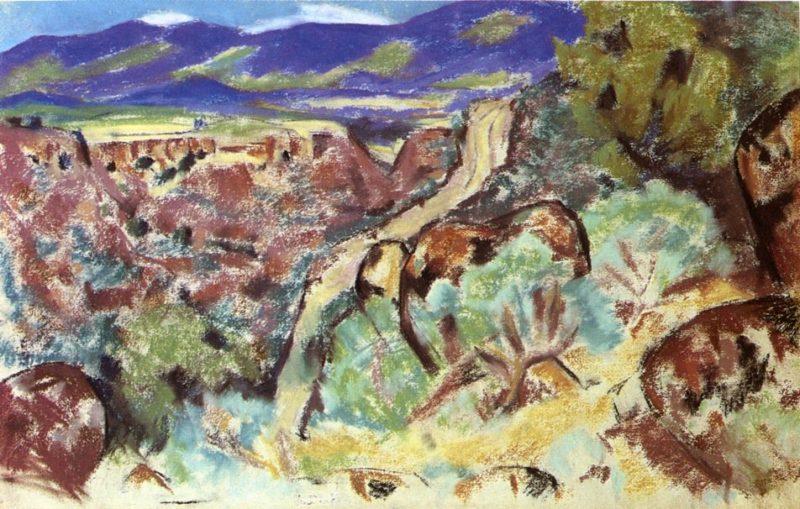 Arroyo Hondo New Mexico   Marsden Hartley   oil painting