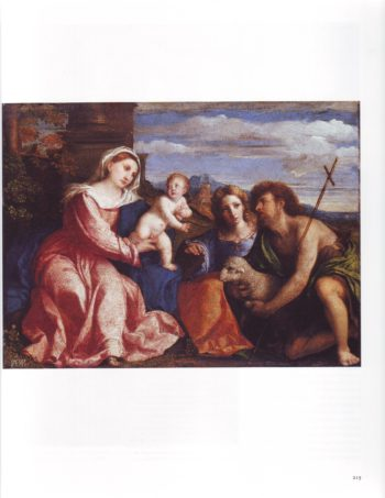 The Virgin And Child With Sts Catherine Of Alexandria And John The Baptist | Palma Vecchio | oil painting