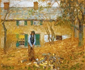 Woodchopper | Frederick Childe Hassam | oil painting