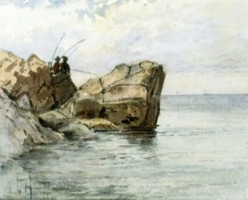 Young Fishermen | Frederick Childe Hassam | oil painting