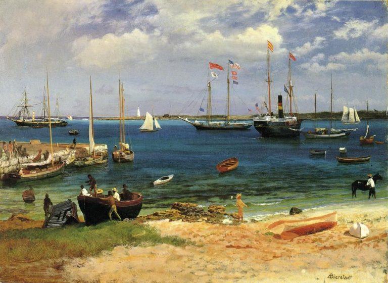 Nassau Harbor   Albert Bierstadt   oil painting