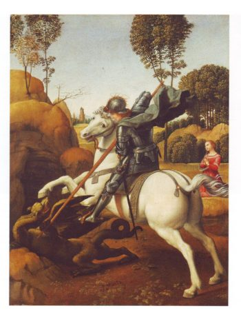 St George And The Dragon | Raphael | oil painting
