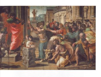 The Sacrifice At Lystra | Raphael | oil painting