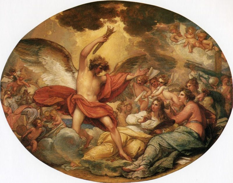 Genius Calling Forth the Fine Arts to Adorn Manufactures and Commerce | Benjamin West | oil painting