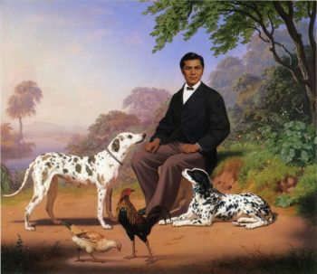 Sacramento Indian with Dogs | Charles Christian Nahl | oil painting