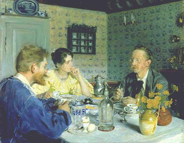Almuerzo con Otto Benzon | Peder Severin Kroyer | oil painting