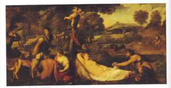 Jupiter And Antiope | Titian | oil painting